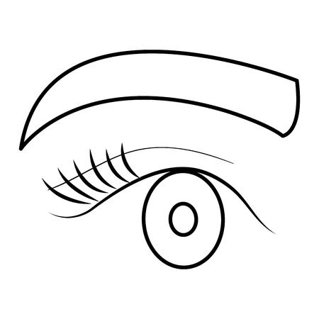 Oeil avec sourcils icône vector illustration design Banque d'images - 92268822