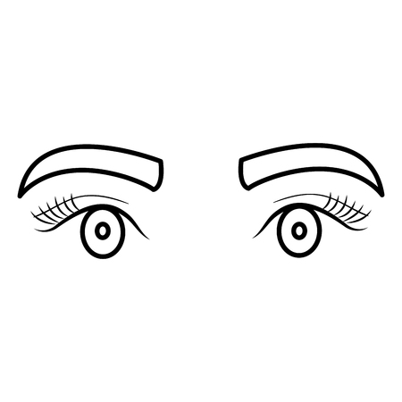 eyes with eyebrow icon vector illustration design Stock fotó - 92268818