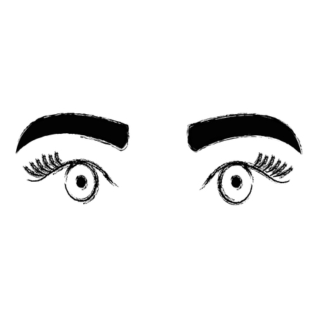 Eyes with eyebrow icon