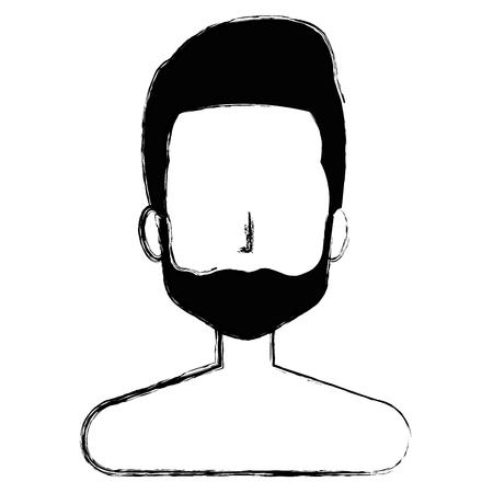 Male shirtless avatar character vector illustration design