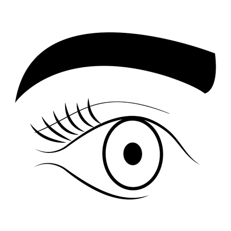 Eye with eyebrow icon vector illustration design. Illustration