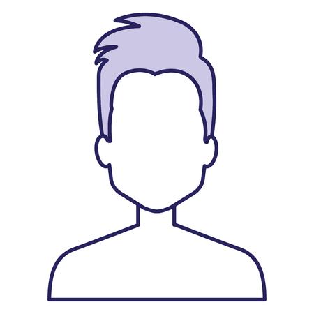Young man shirtless avatar Çizim