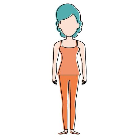 Beautiful woman avatar Illustration