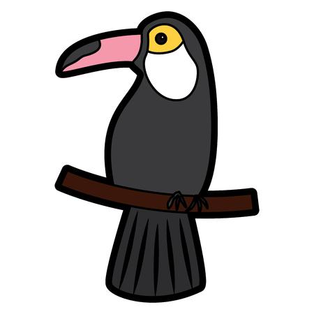 toekan vogel tropische pictogram afbeelding vector illustratie ontwerp Stock Illustratie
