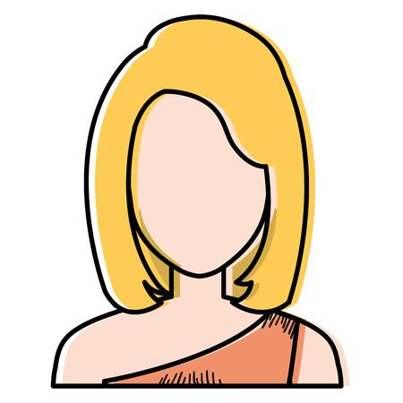 Beautiful woman avatar character  illustration design.