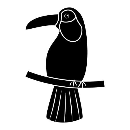 Ontwerp van de het beeld vectorillustratie van de toekanvogel het tropische pictogram Stock Illustratie