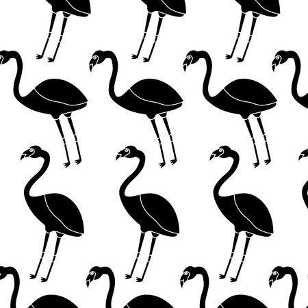 Flamingo bird tropical pattern image vector illustration design