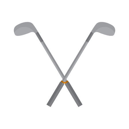 Crossed clubs golf icon image vector illustration design Illustration