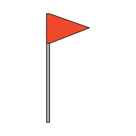 Flag triangle icon image vector illustration design