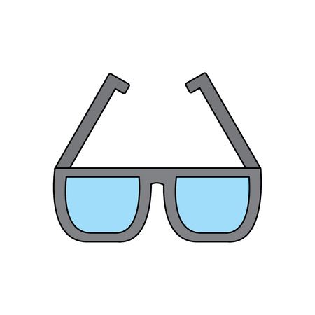 Glasses square frame icon image vector illustration design
