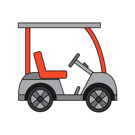 Cart golf icon image vector illustration design