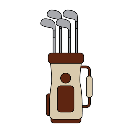 Golf bag with clubs icon image vector illustration design