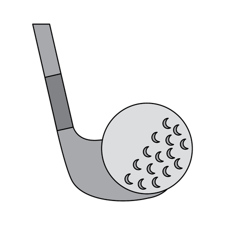 Ball and club golf icon image vector illustration design