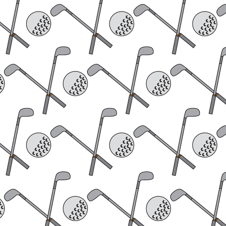 Crossed clubs and ball golf icon image vector illustration design