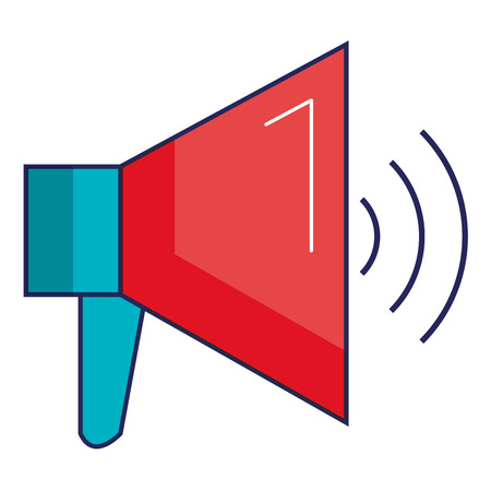 Megaphone sound isolated icon  illustration design. Çizim