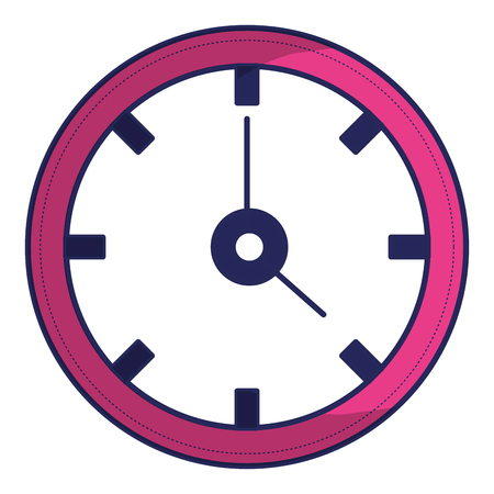 Time clock isolated icon   illustration design. 版權商用圖片 - 92180696