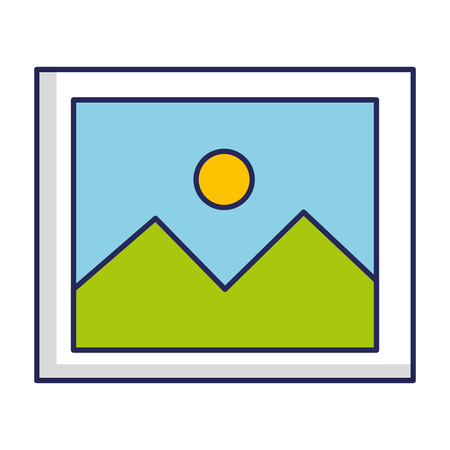 Landscape snapshot isolated icon illustration design.