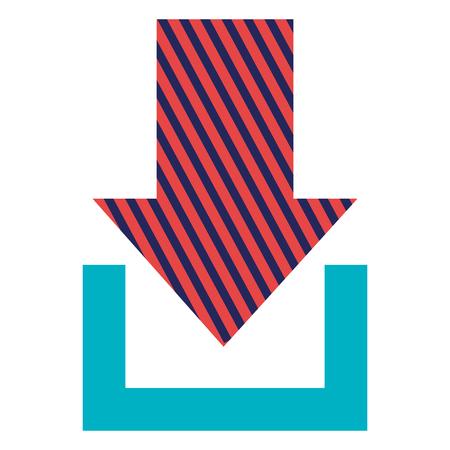 矢印ダウンロード×アイコンベクトルイラストデザイン。  イラスト・ベクター素材