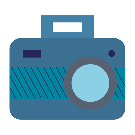 Photographic camera isolated icon illustration design.