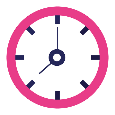 Time clock isolated icon vector illustration design. 向量圖像