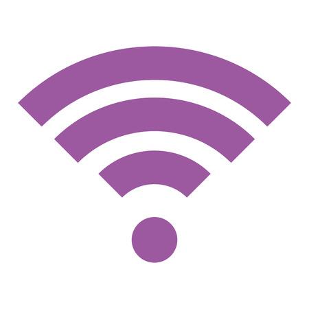無線LAN信号絶縁アイコンベクトルイラストデザイン。