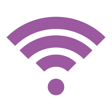 Wifi signal isolated icon vector illustration design.