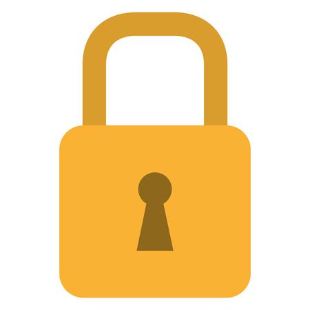 Progettazione sicura sicura dell'illustrazione di vettore dell'icona del lucchetto. Archivio Fotografico - 92203871
