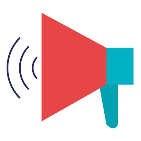 Megaphone sound isolated icon vector illustration design. Illustration