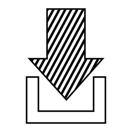 Arrow Télécharger conception illustration icône isolé. Banque d'images - 92180790