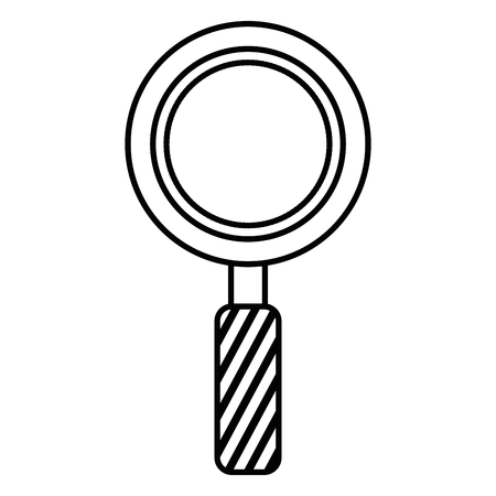 Magnifying glass isolated icon illustration design.