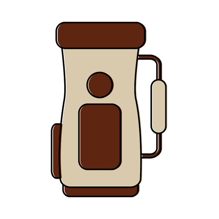 Golf bag handle accessory equipment icon vector illustration Illusztráció