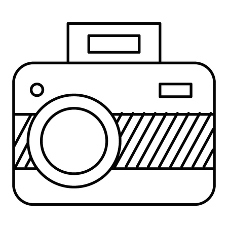 Graphic camera isolated icon illustration design.