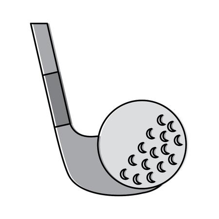 골프 클럽 및 공 스포츠 레크 리 에이션 벡터 일러스트 레이션