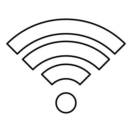 Wifi signal Illusztráció