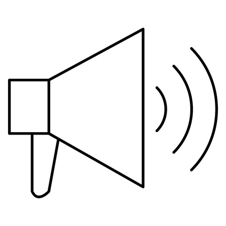 Megaphone sound isolated icon illustration design.