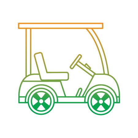 golf sportwagen voertuig vervoer vector illustratie Stock Illustratie