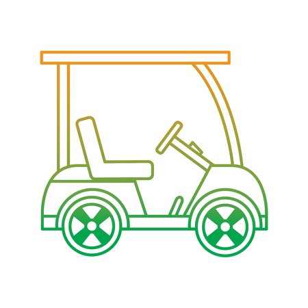 golf sport car vehicle transport vector illustration Illustration