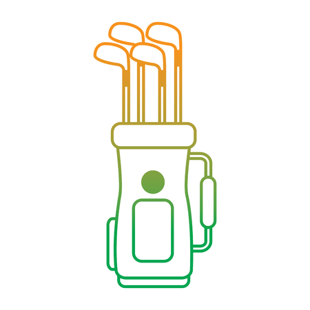 Golf bag full of clubs Illustration