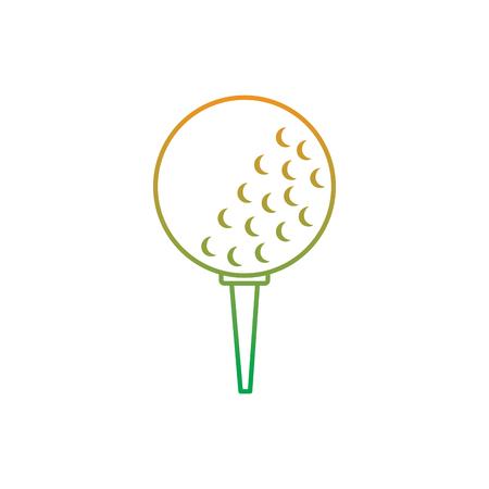 golfballen op de vectorillustratie van het tribunemateriaal