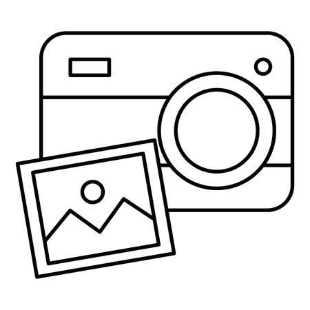 그림 그림 디자인을 가진 카메라입니다. 일러스트