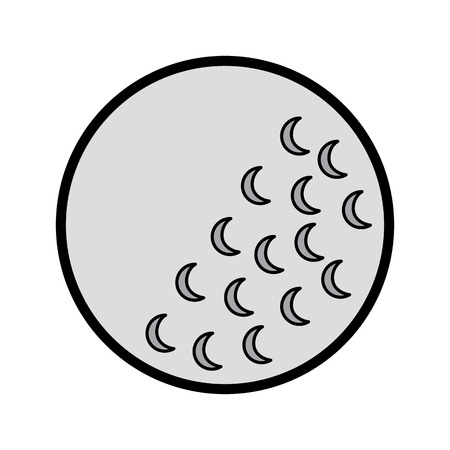 Golf ball sport equipment play icon vector illustration