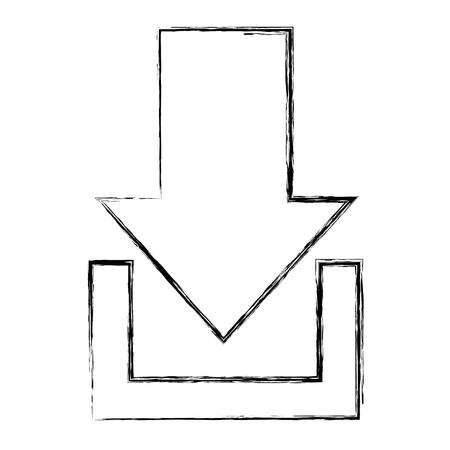 De illustratieontwerp van het pijldownload geïsoleerd pictogram. Stockfoto - 92181025
