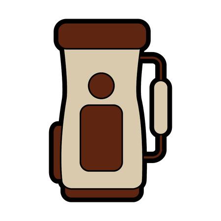 golf bag handle accessory equipment icon.