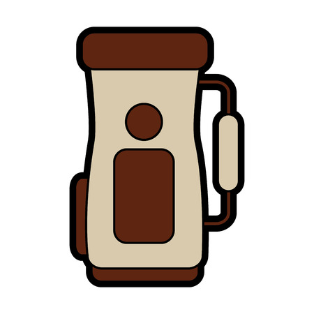 golf bag handle accessory equipment icon.