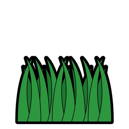 草の自然な植物の葉のアイコン。  イラスト・ベクター素材