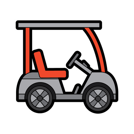 Golf sport car vehicle transport illustration.