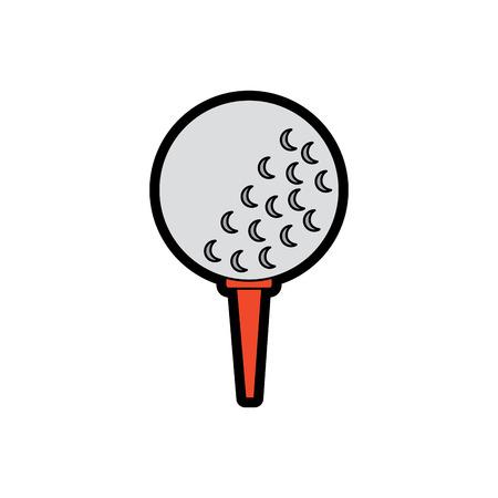 Golfballen op de illustratie van het tribunemateriaal.
