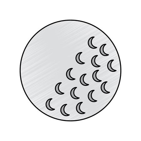 Golf ball sport equipment play icon illustration.