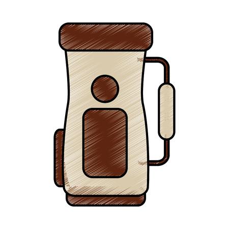 Illustrazione di vettore dell'icona dell'attrezzatura accessoria della maniglia della sacca da golf Archivio Fotografico - 92141353