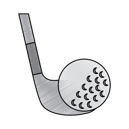 ゴルフクラブとボールスポーツレクリエーションベクトルイラスト